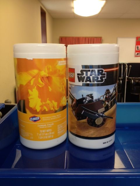 Clorox Wipe Containers To Store Individual Lego Kits