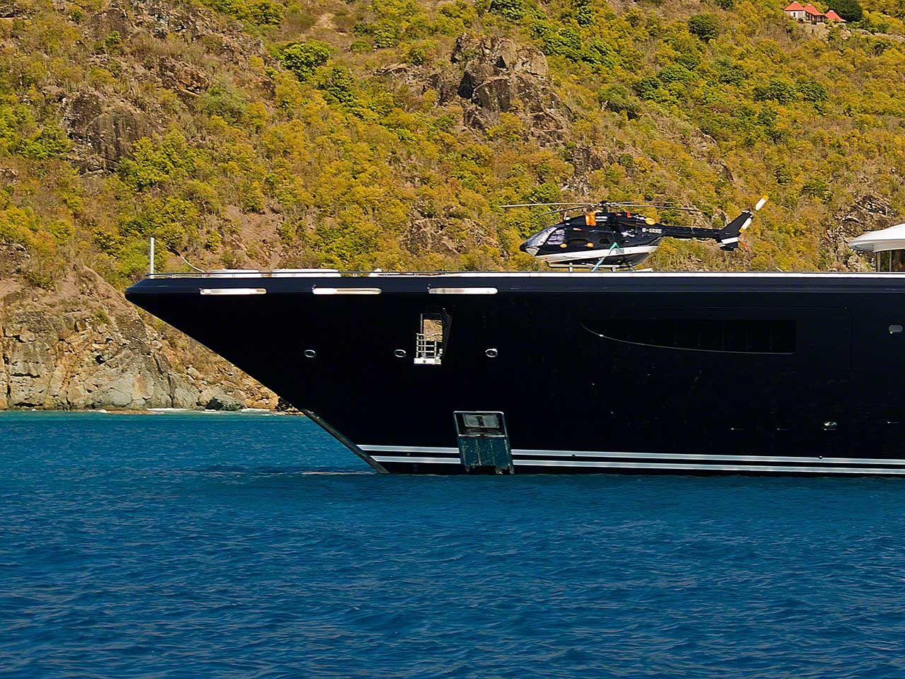 Serene Yacht Helicopter On Serene Serene Boat Helicopter