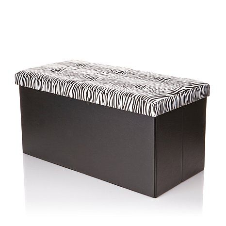 Folding Storage Bench With Removable Lid. Update: I Purchased This In The  Leopard And I Am Loving It So Far. It Is Very Sturdy And Spacious.