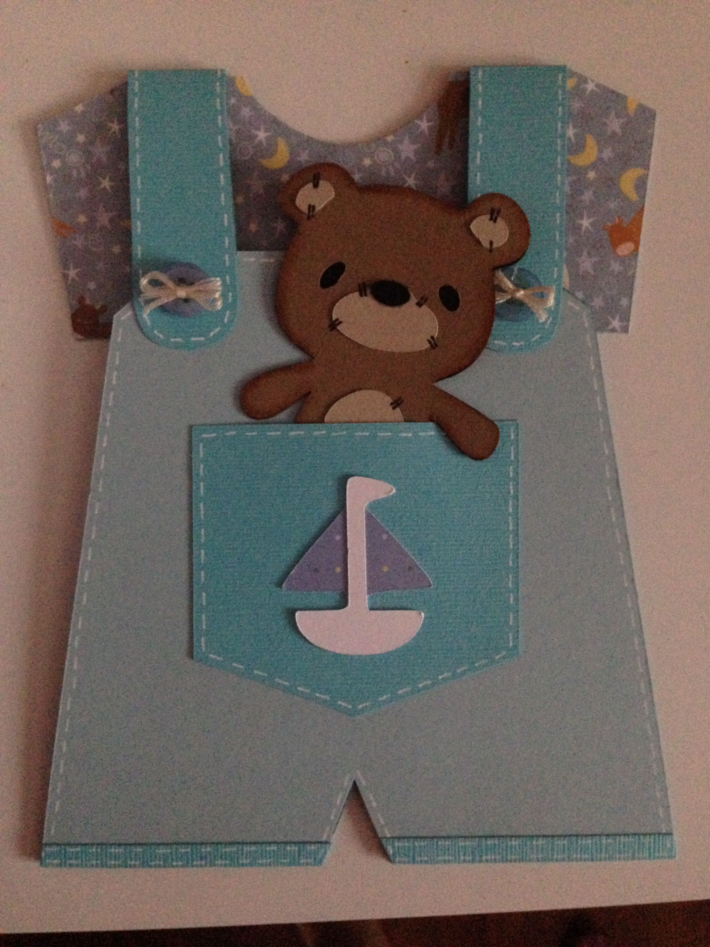 Sweet shower card for a baby boy.