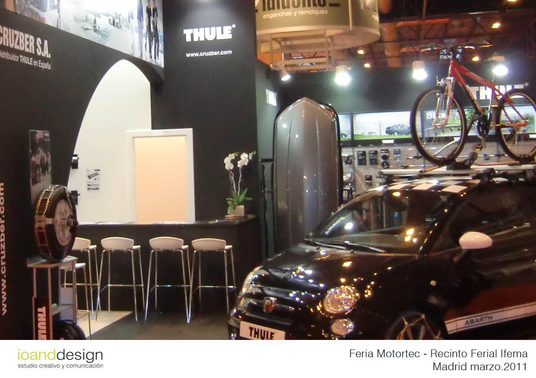 Diseño de Stand para la Empresa CRUZBER (Distribuidor THULE para España) en MOTORTEC en IFEMA (Madrid) en Marzo 2011.