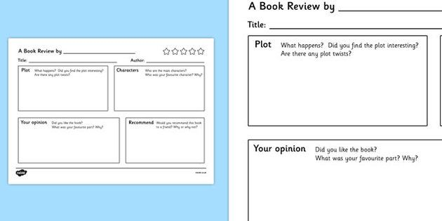 book report pattern