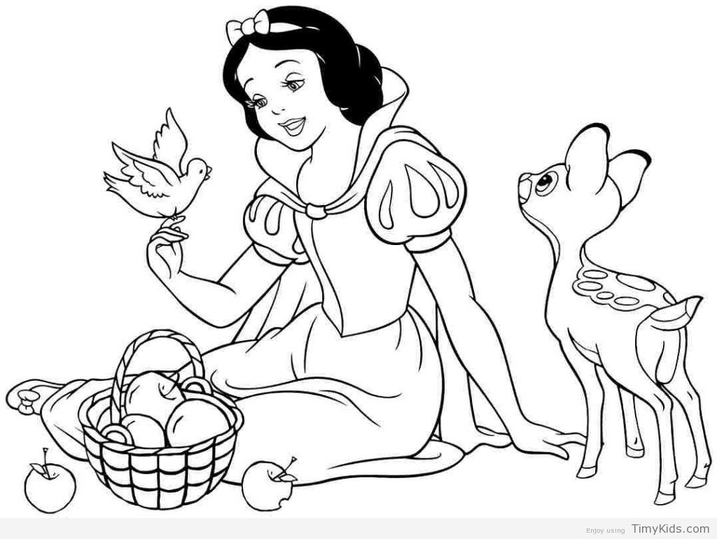 Snow White Color Pages Disney Princess Coloring Pages Snow