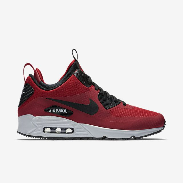 Nike Air Max 90 Mid Winter Gym Red Black Wolf Grey YouTube