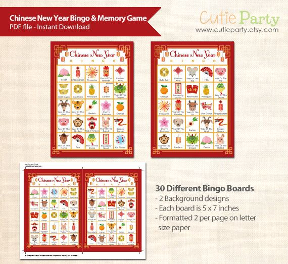 need a fun game for your chinese new year gathering this adorable 2 in 1 printable set is perfect to bring the extra fun for your party