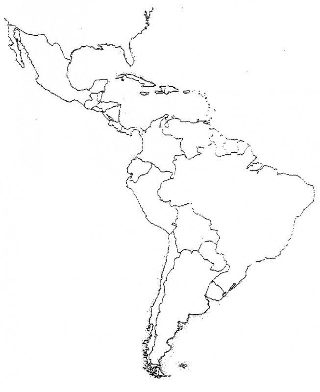 United States Map Coloring Page Blank Latin America Map
