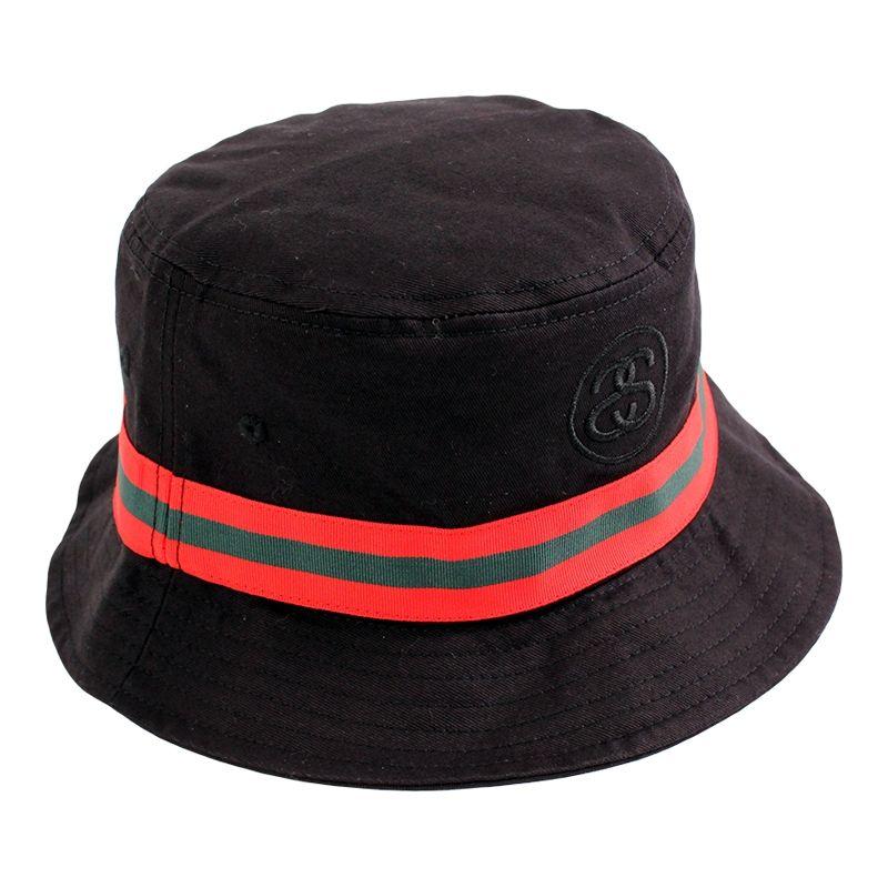Stussy Link Band Bucket Hat Black  dc92587c986