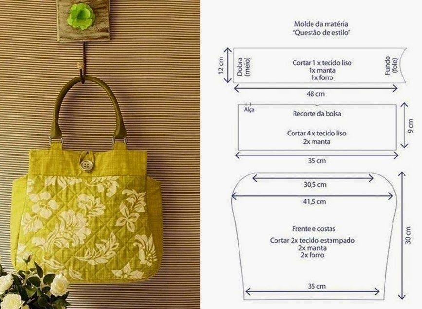 Moda e Dicas de Costura: BOLSA FÁCIL DE COSTURAR - 1