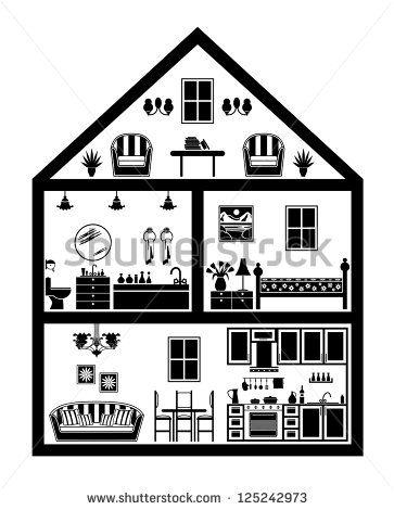 House Plan Stock Illustrations Cartoons House Illustration House Outline House Clipart