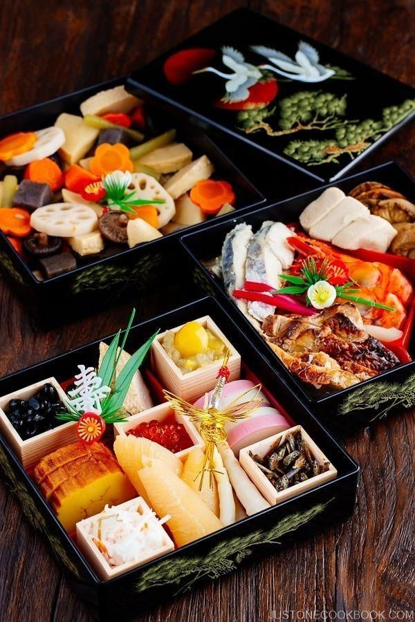 Osechi Ryori Osechi Cuisine Japanisches Neujahrsessen Japan