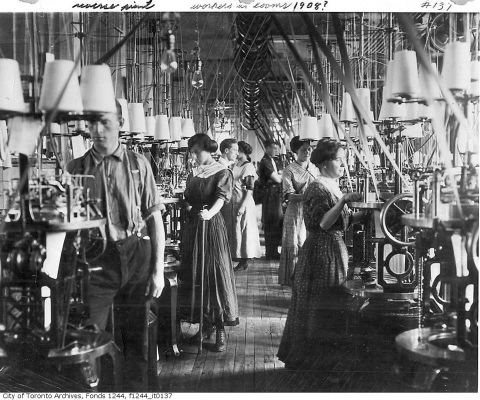 1908 Textile factory loom workers long hours and low