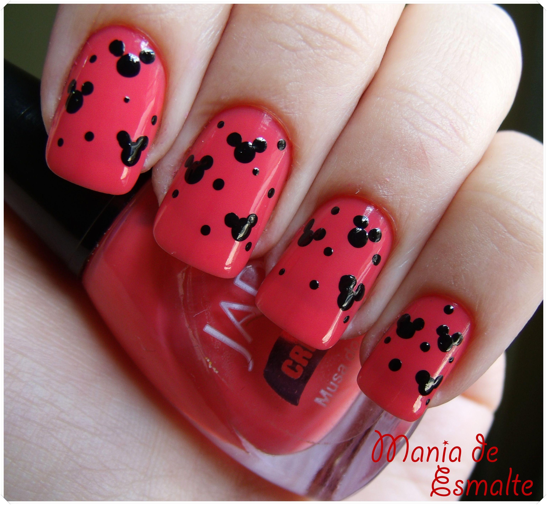 cute mickey | Disney nails | Pinterest