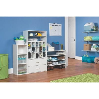 Charmant ClosetMaid 24 In. W X 19 In. H White Laminate 15 Cube Organizer 8983   The  Home Depot