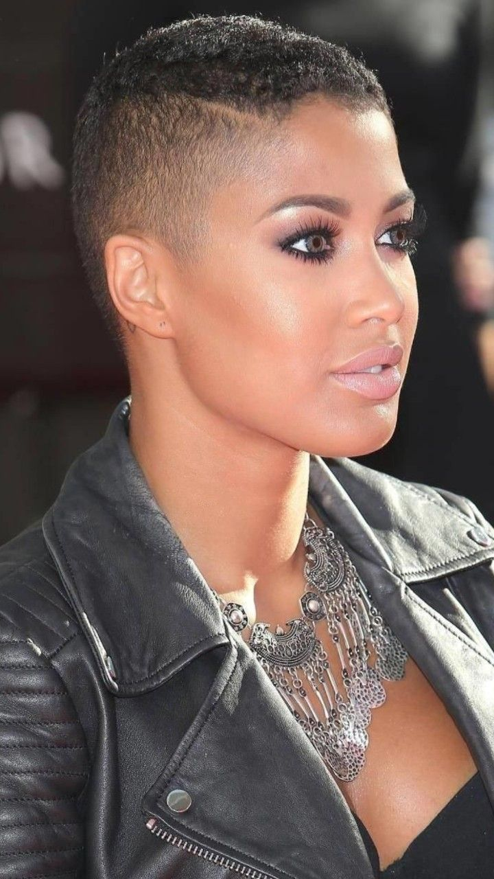 Short hair bald twa fade hair and beauty in pinterest