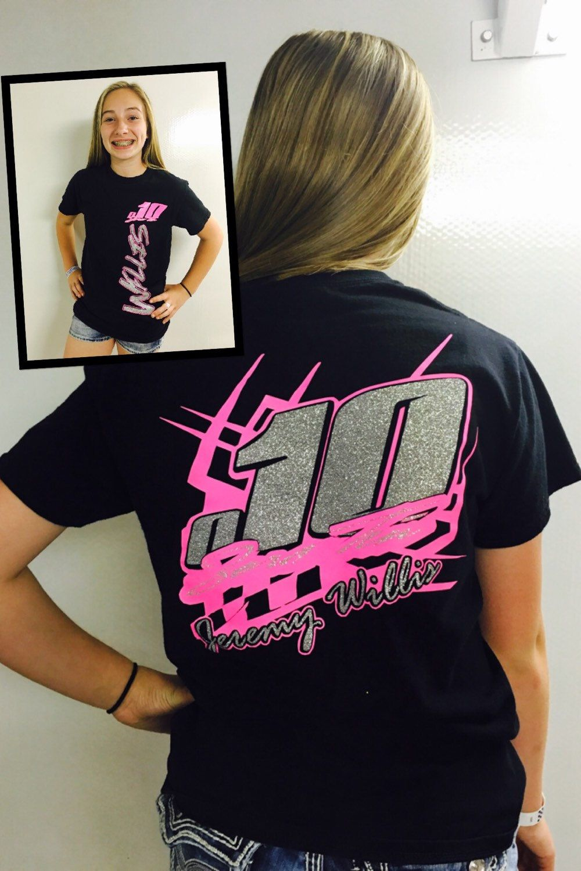 886a5eb8 Custom Racing Shirt, Personalized Racing Shirt, Pit Crew Shirt, Racing Shirt  by XtremeBowtiqueBows on Etsy