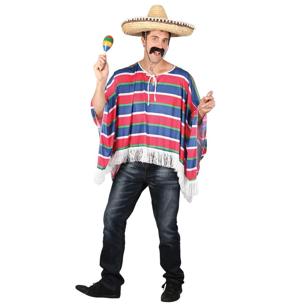 Adult Mens Unisex Mexican Bandit Poncho Fancy Dress Costume Mexico by Smiffys