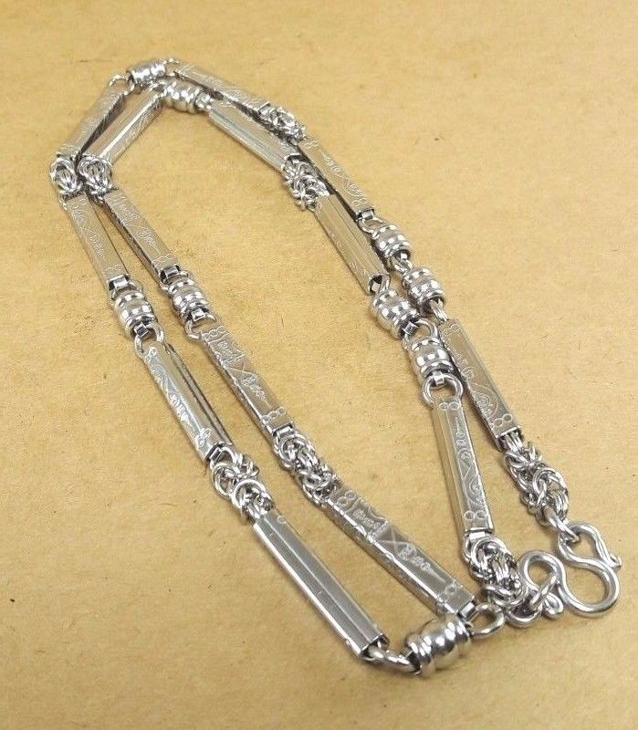 Thai amulet buddha pendant solid immaculate iron stainless chain thai amulet buddha pendant solid immaculate iron stainless chain necklace 26 aloadofball Gallery
