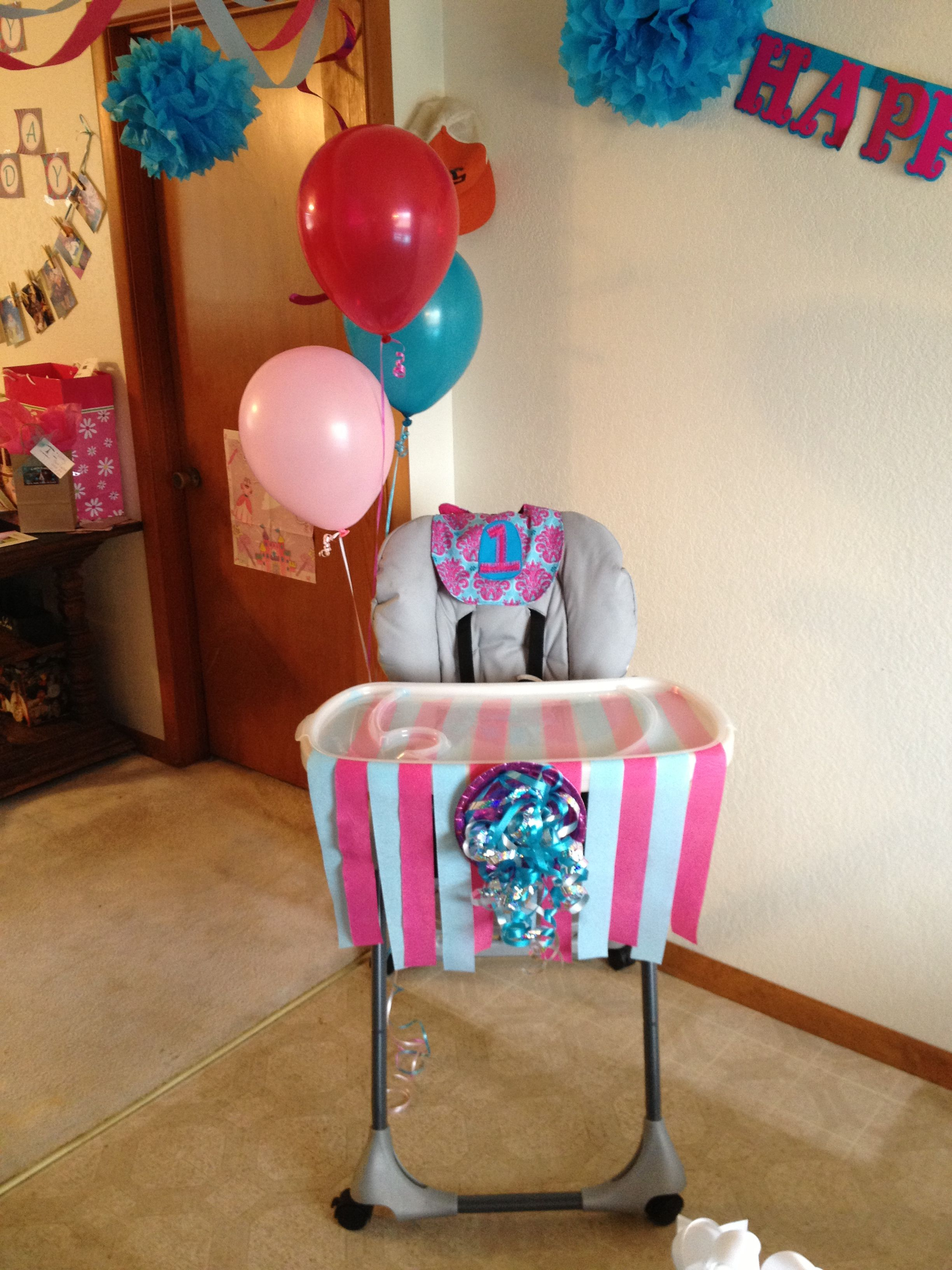 I like the idea of these highchair decorations