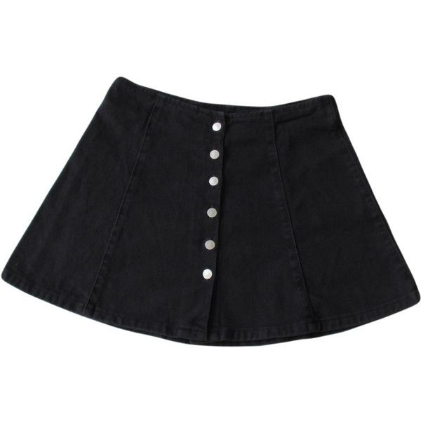 Black Denim Circle Skirt / 1990s Contempo Casuals (1.940 RUB) ❤ liked on Polyvore featuring skirts, bottoms, saias, clothes - skirts, flared denim skirt, black skirt, skater skirt, black knee length skirt and black circle skirt