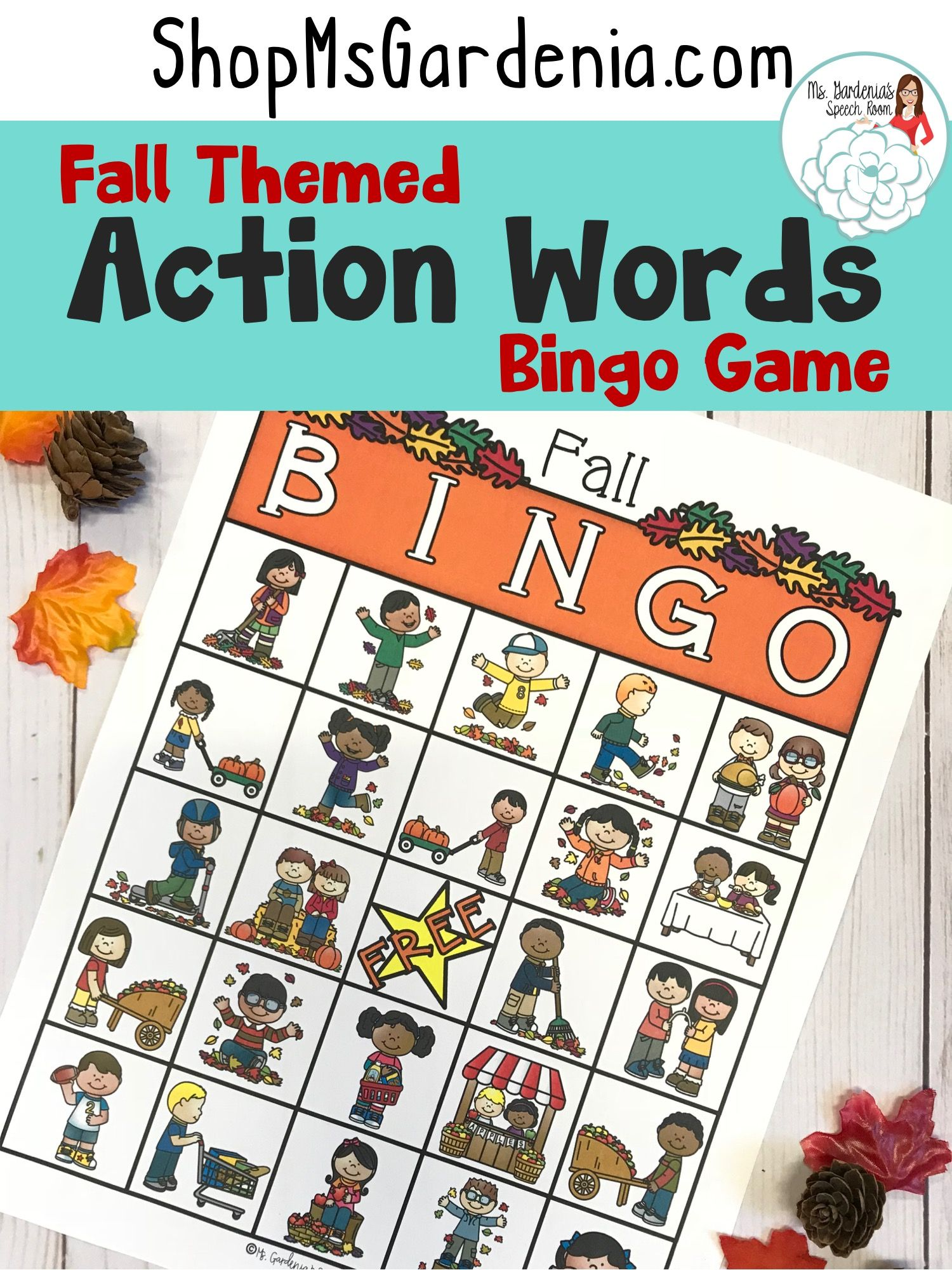 Bingo Present Tense Verb Endings Fall Edition