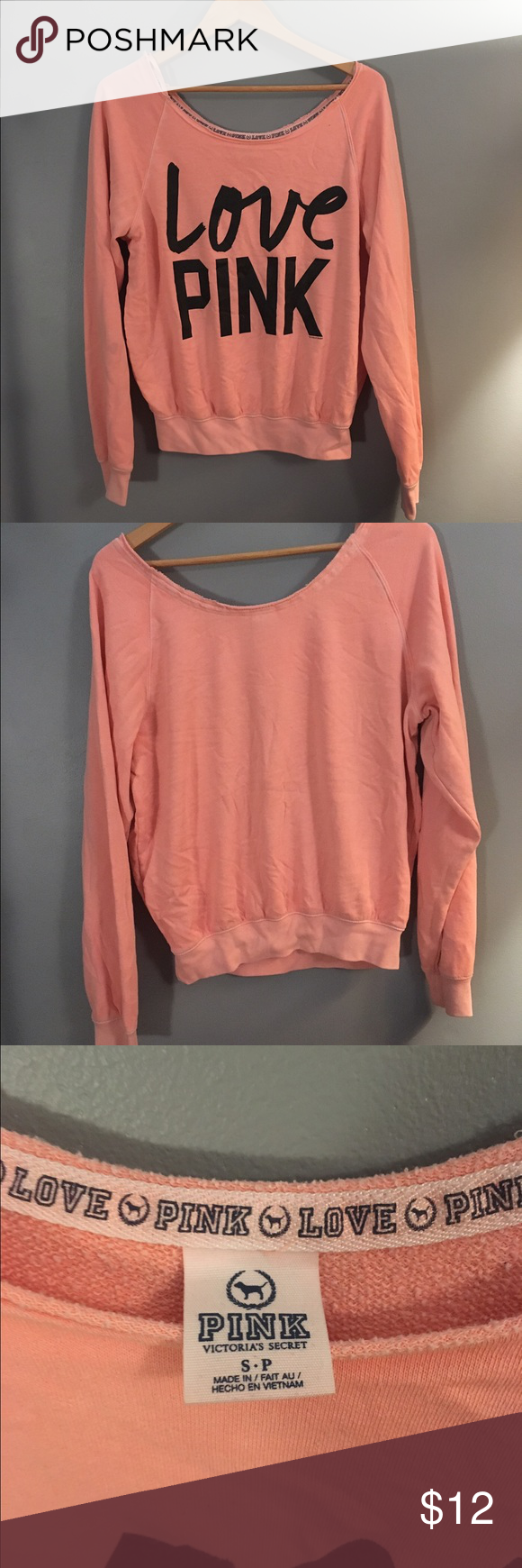 VS Pink Crewneck | vs Pink, Coral orange and Crewneck sweaters