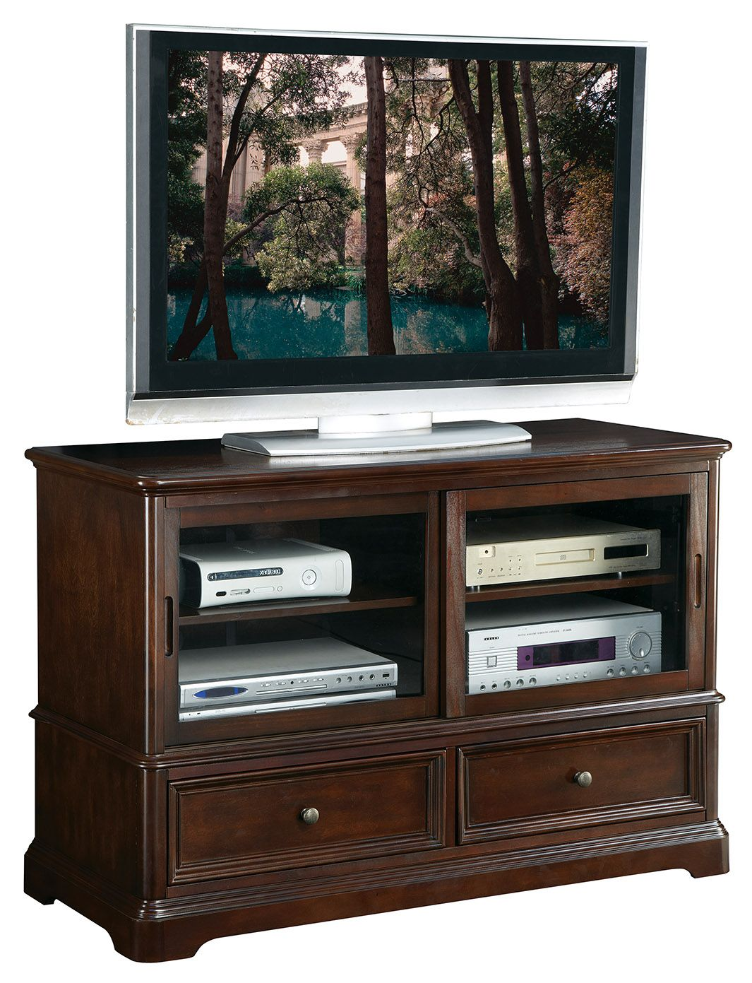 Inspired By Bassett Bennington Tv Console Product No Bp Bntv48 W8 Home Entertainment Furniture Tv Console Cool Tv Stands