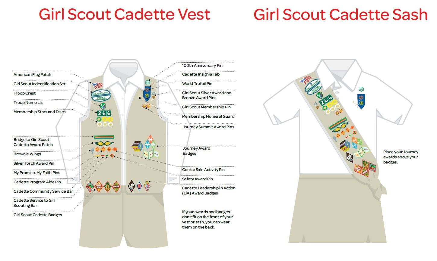 Girl Scout Cadette Vest Amp Sash Insignia Placement