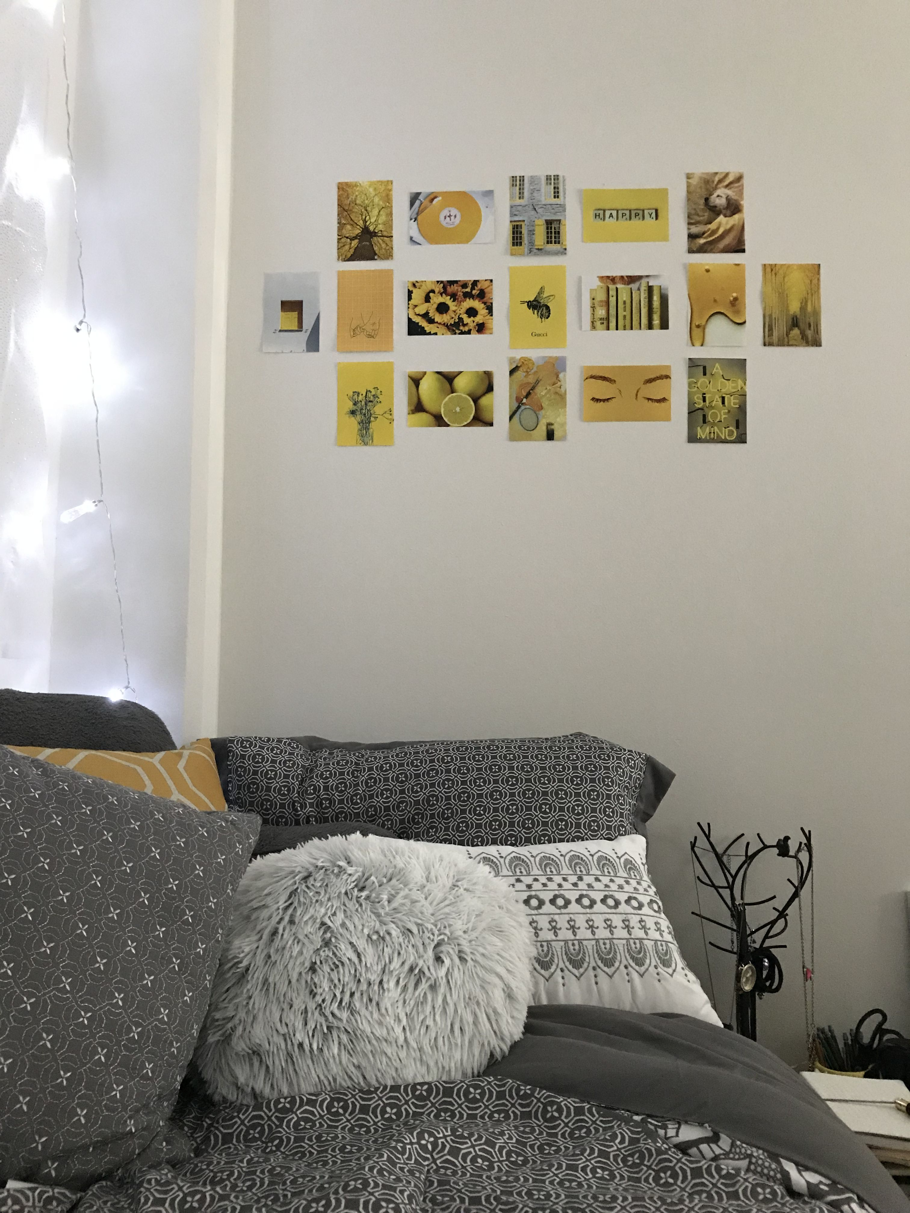simple yellow aesthetic wall decor for your dorm dorm on wall pictures id=23379