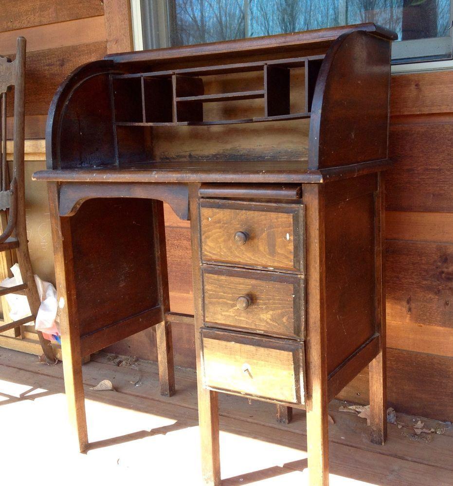 Antique Childs Roll Top Desk - Antique Childs Roll Top Desk Desk Pinterest Desks And Antique
