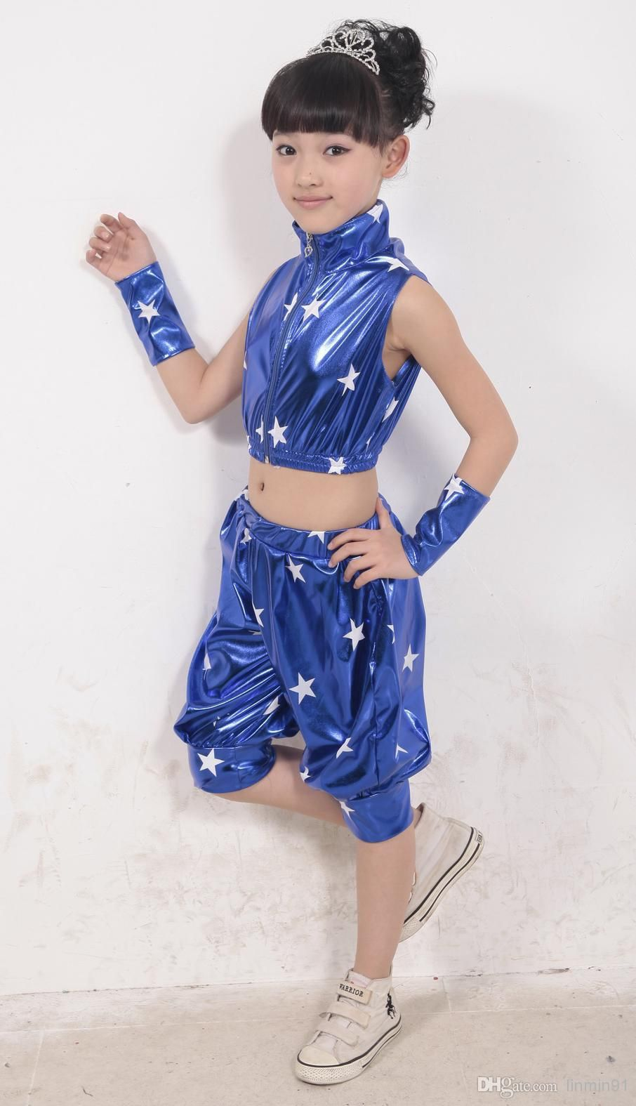 Hot 2015 Factory Children New Dance Clothes Stage Hip Hop Clothing Costumes Patent Leather Cool Modern Jazz Suit A0301 From Linmin91, $16.48 | Dhgate.Com
