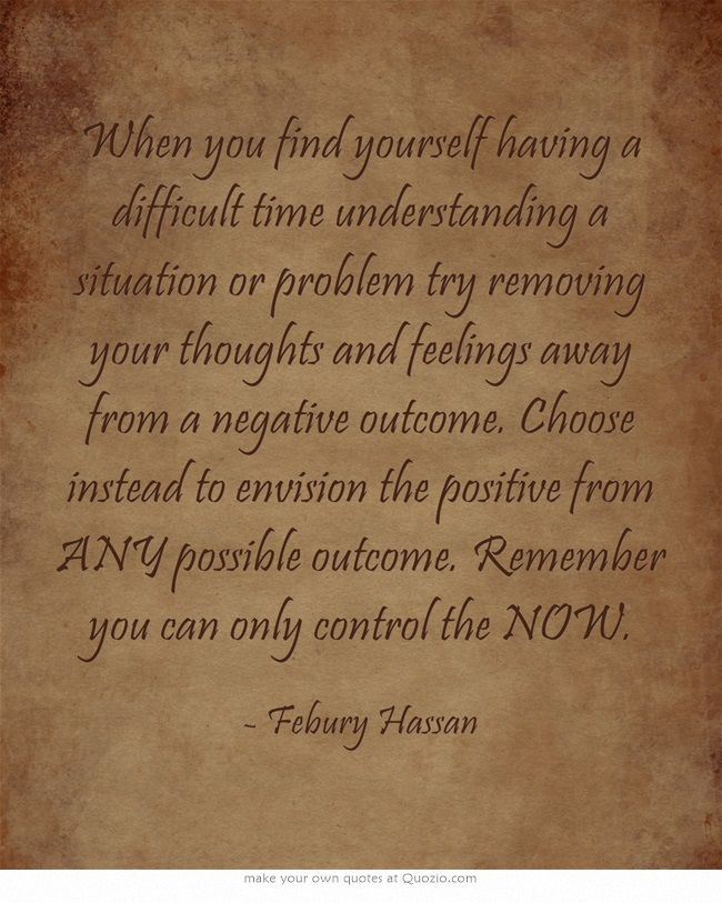 remove yourself from negative situations