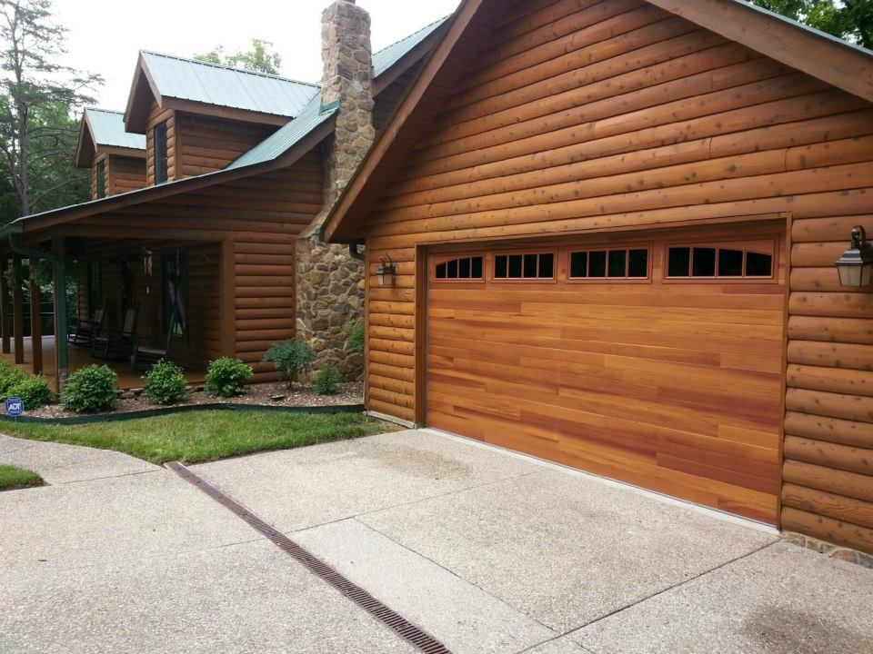 C H I Overhead Doors Accents Planks Model 3285p Shown In