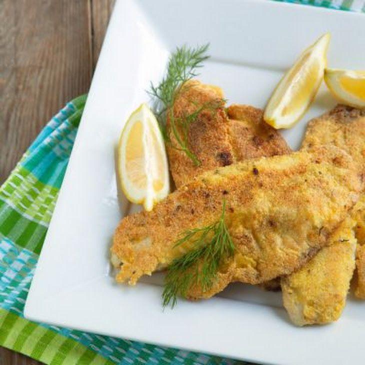 Panko-Crusted Cod Recipe Main Dishes with panko breadcrumbs, italian seasoning, garlic powder, olive oil, salt, cod