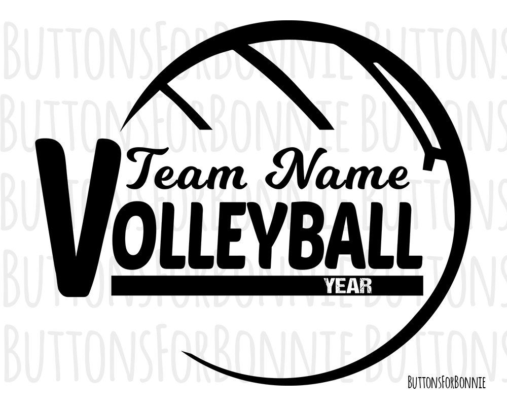 Volleyball Svg Editable Template Volleyball Emblem Etsy Volleyball Volleyball Team Team Names