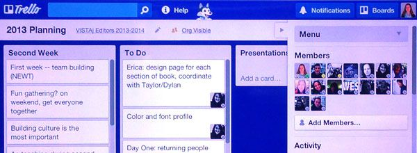 Trello for organizing newspaper issues, yearbook