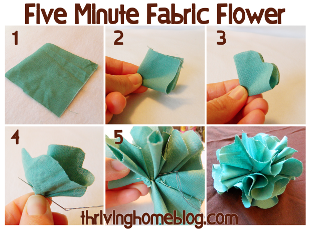 An Easy To Follow Fabric Flower Tutorial Maybe A Good