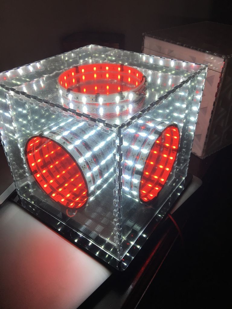 Simple Infinity Cube 7 Steps With Pictures Cube Infinity Mirror Table Simple