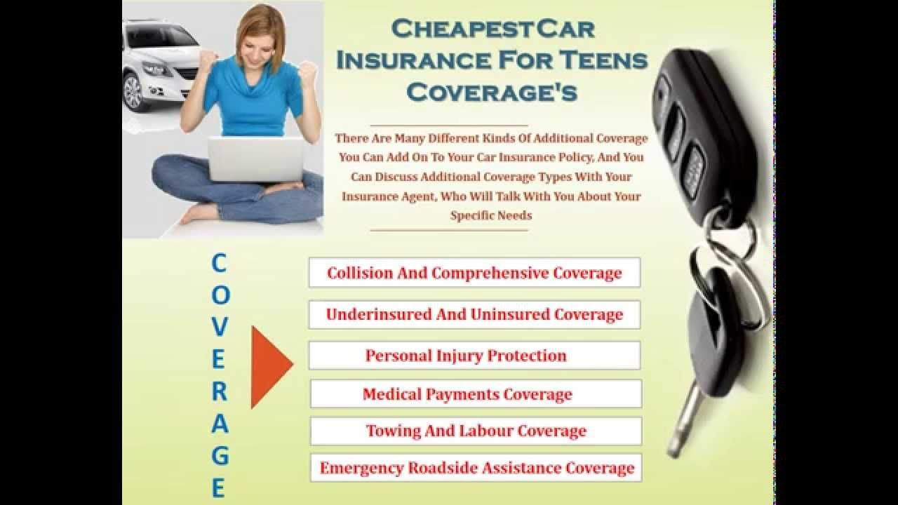 Cheap Car Insurance For Teenagers With Images Car Insurance