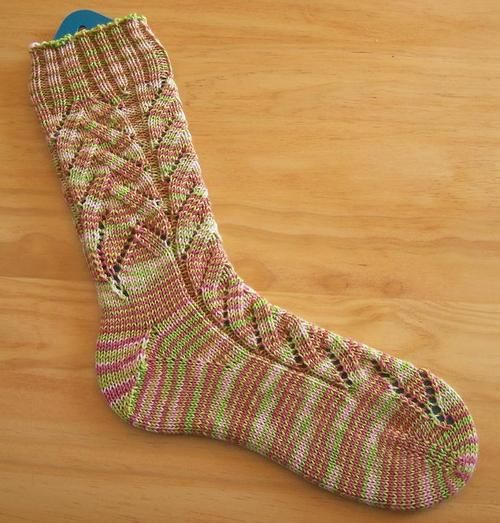 Toe Up Knitted Sock Pattern Free : Knitting Pattern Toe Up Socks Banana Blossom Socks   Knitting Bee knit in...