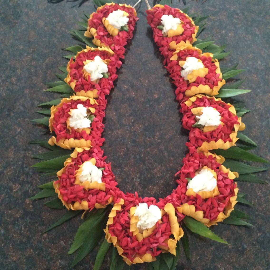 Kahoa Tongan Lei Puakinikini And Pikake Made By Heilala My