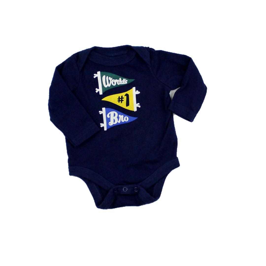 Worlds #1 Bro Bodysuit, Size Newborn, $3   Baby onesies ...