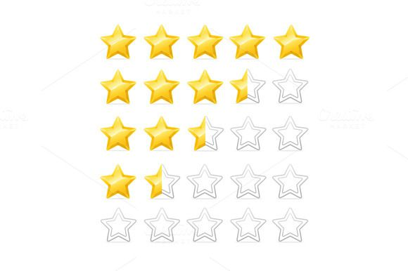 Stars Rating. Vector by Stacy on Creative Market