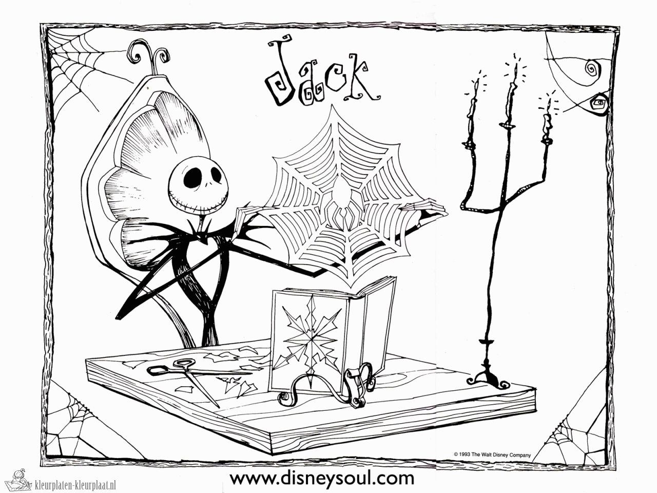 Night Before Christmas Coloring Pages The Nightmare Before Christmas ...