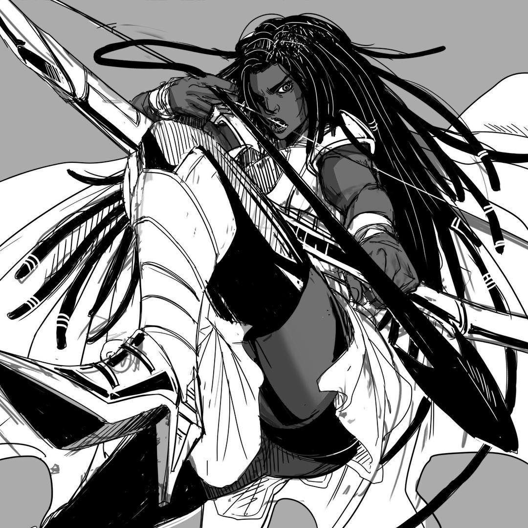 Neith Artistsoninstagram Characterdesign Blackpeople Afro Blackexcellence Drawing Illustration Black Anime Characters Manga Drawing Black Characters