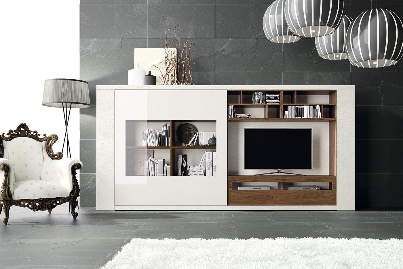 Mueble de tv compacto Exclusive Mueble compacto con hueco t.v. con ...