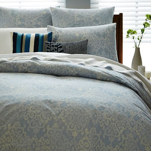 Organic Scroll Arabesque Duvet Cover Shams King Duvet