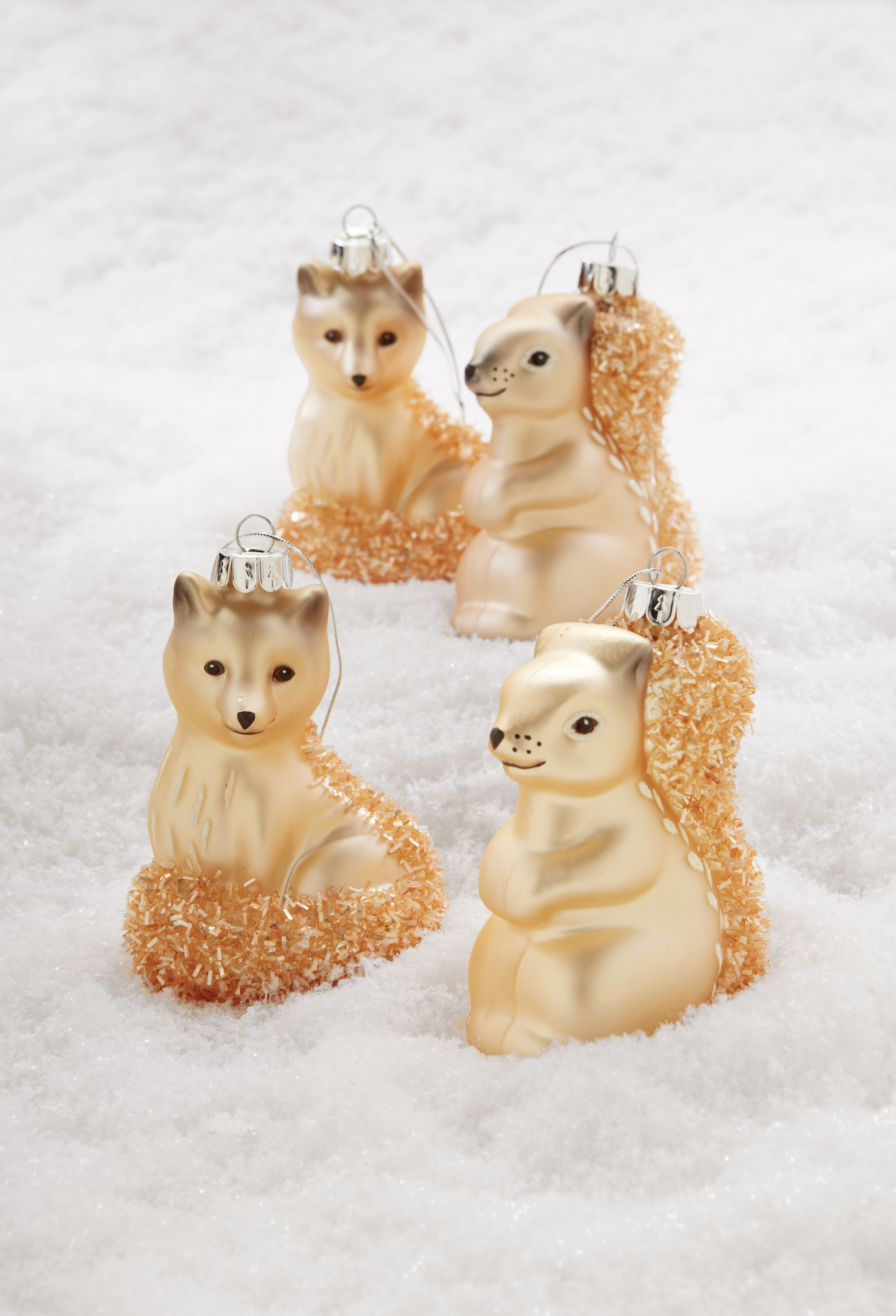 Fun with animal friends these squirrel and fox ornaments
