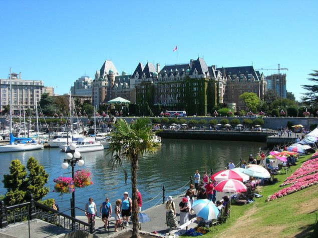 The dock at Victoria, BC, Canada