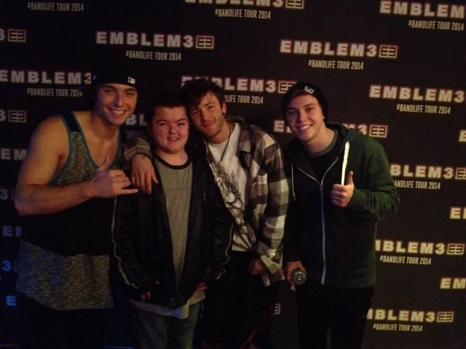 One of our meet and greet backdrop banners for the band emblem 3 one of our meet and greet backdrop banners for the band emblem 3 m4hsunfo