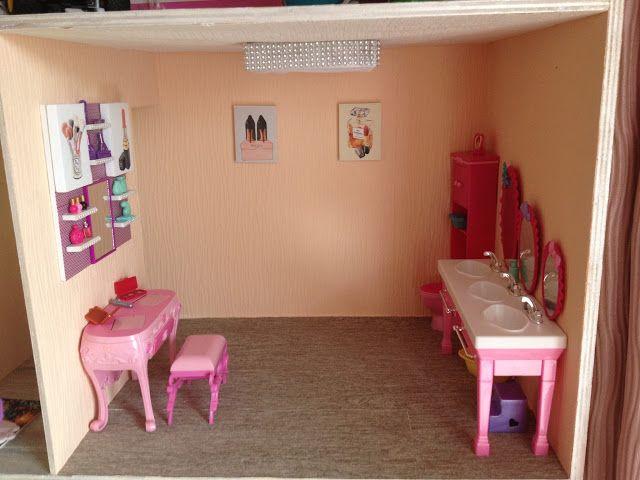 Badezimmer rosa ~ Stampika barbie haus rohbau und badezimmer barbie haus diy